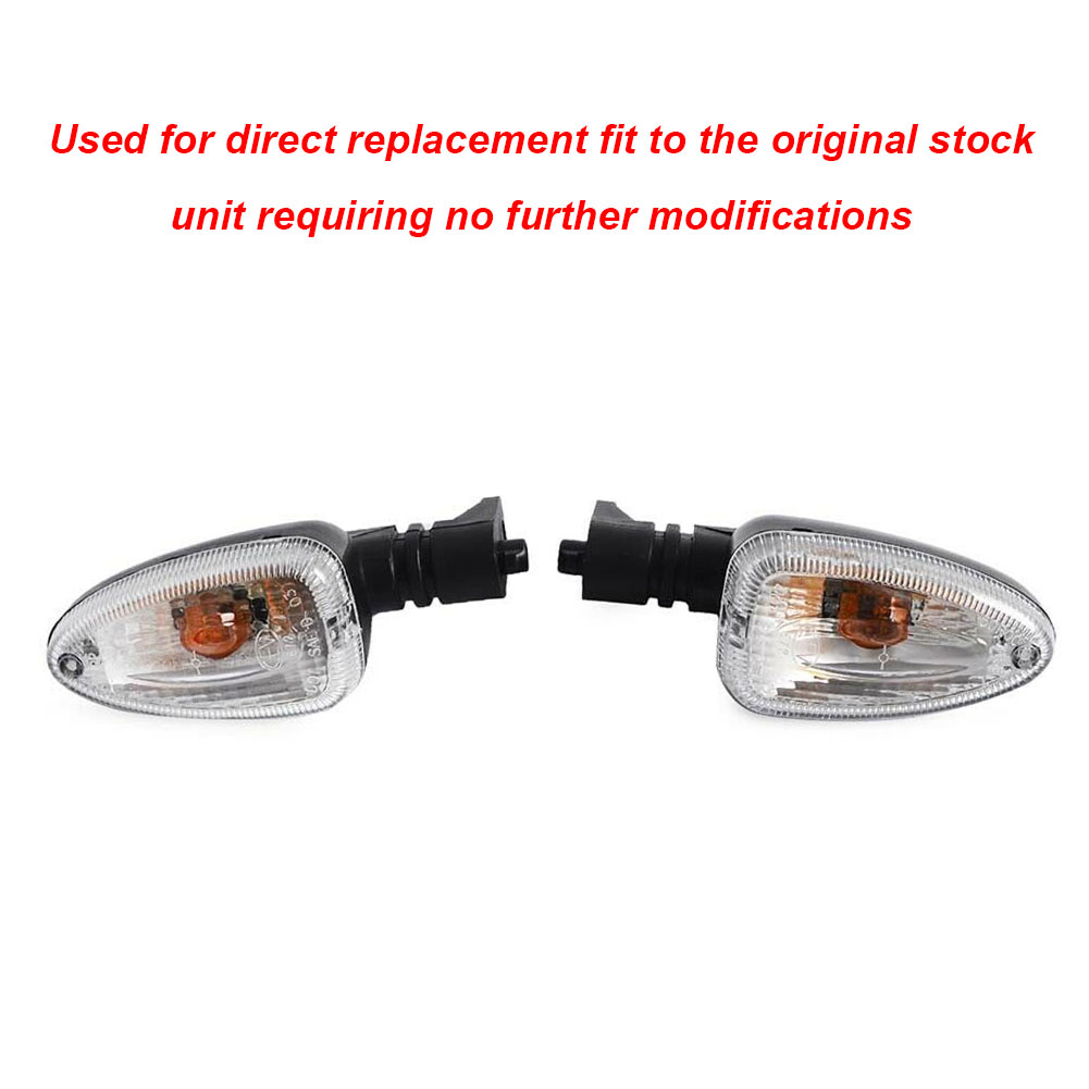 2xClear Turn Signal Light Indicator For BMW F650GS R1200GS F800GS HP2Enduro 2