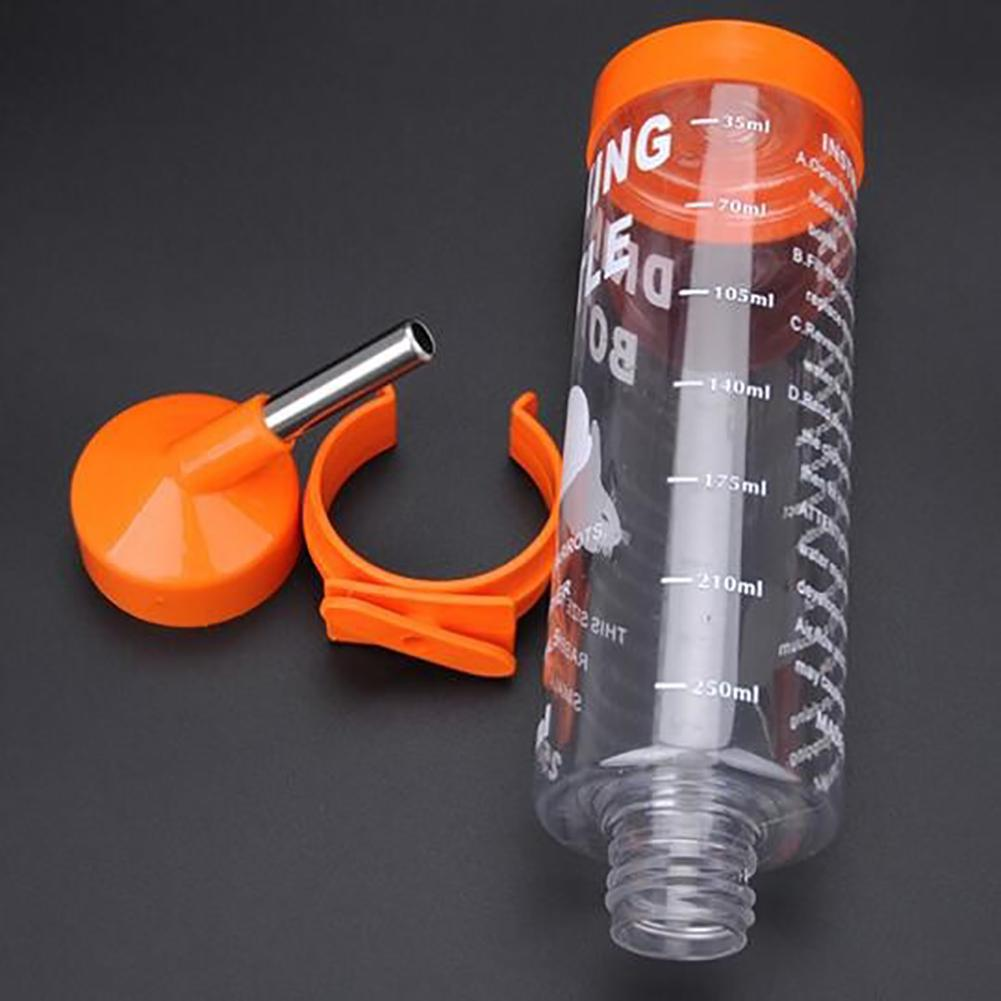 Portable 250ML Pet Drink Stainless Steel Automatic Water Fountain Bottle Rabbit Hamster