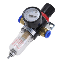 цена на AFR2000 Air Pressure Regulator Water Separator Trap Filter Airbrush Compressor with 6mm Fittings