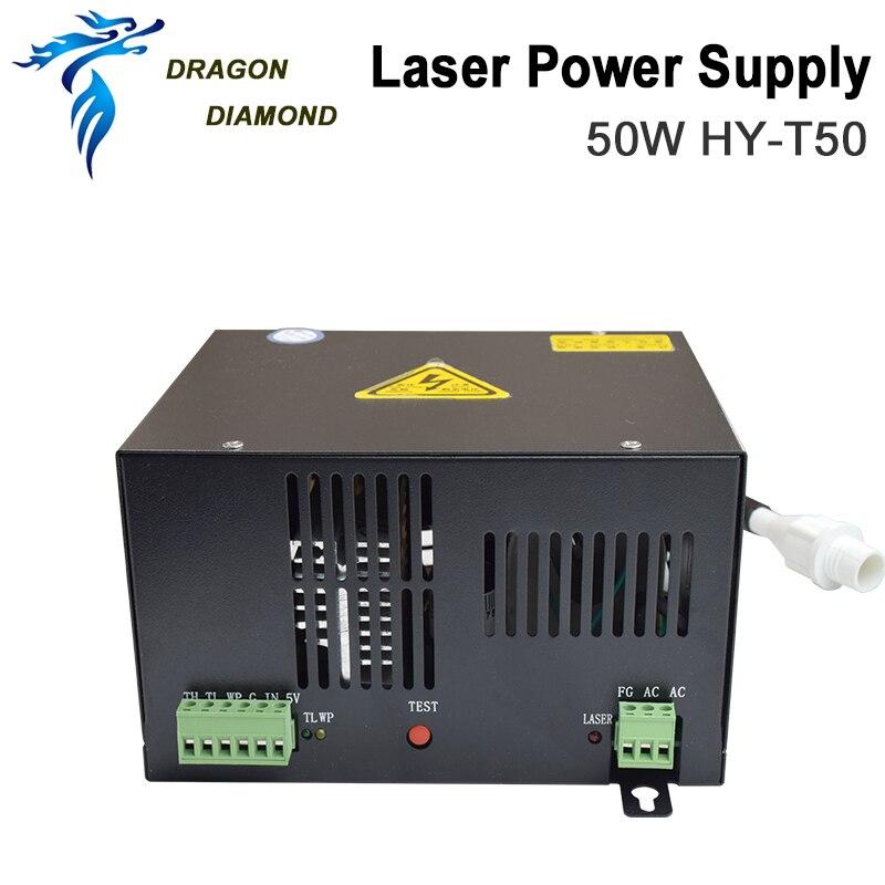 Купить с кэшбэком Dragon Diamond 50W CO2 Laser Power Supply for CO2 Laser Engraving Cutting Machine HY-T50 T / W Series