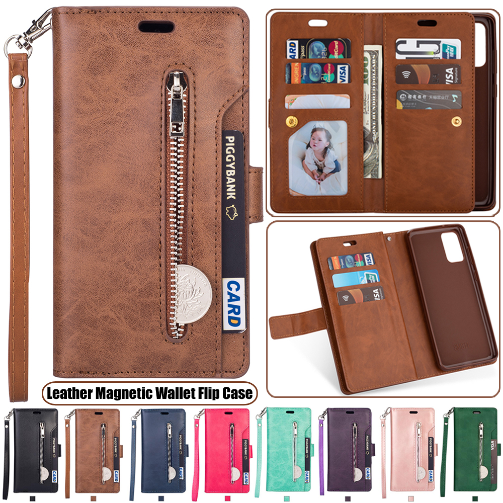 Leather Flip <font><b>Case</b></font> For <font><b>Samsung</b></font> <font><b>Galaxy</b></font> S20+ Note 10 Plus A51 A71 A90 5G A70 A60 A50 <font><b>A40</b></font> A30 A20 A10 M40 M30 M20 M10 Wallet <font><b>Cover</b></font> image