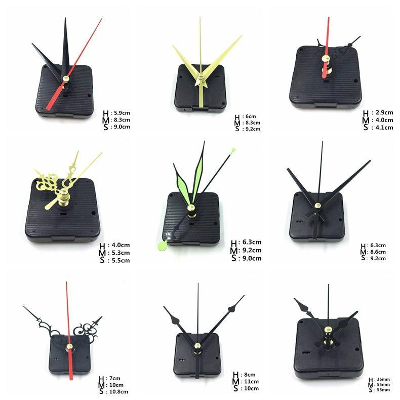 1 set with needles Clock Movement DIY Quartz repair Movement Clock Mechanism Parts Quartz Watch Silent Hanging Wall