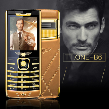 B6 bar luxury mobile phone  metal body Bluetooth   MP3 FM High-end keyboard phone