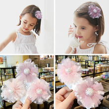 1pc Princess Girls Peal Lace Flower All-Inclusive Hair Clip Baby Girls Cute Hair Accessories Birthday Party Gift Kids Headwear стоимость