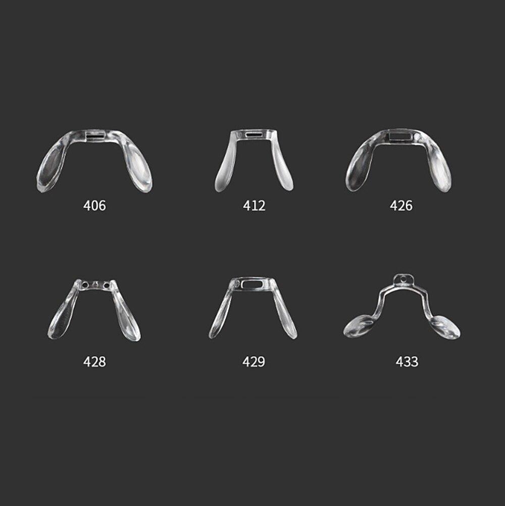 10pcs  Bridge Conjoined Rubber PVC Nose Pads Eyeglasses Eyewear Nose Pads