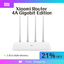 Xiaomi Mi Router 4A Gigabit Edition 1167Mbps 2,4 GHz/5GHz WiFi Repeater 128MB DDR3 High Gain 4 antennen Netzwerk Extender APP Cont
