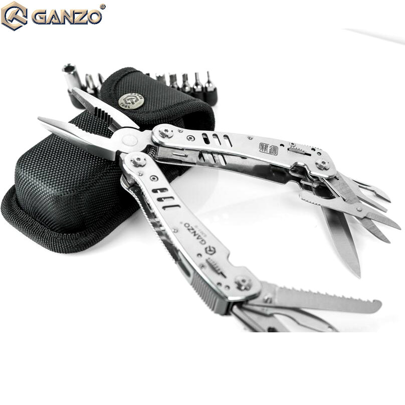 Ganzo G301H, G301-H,Stainless Steel Multi Pliers Tools,with Gift Black Pouch EDC Stainless Steel Folding Knife Plier Tool