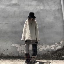 Уличные лоскутные брюки в клетку с карманами свободные длинные