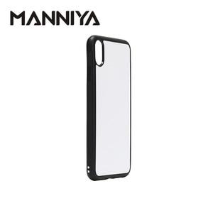 Image 2 - Manniya 2D Sublimatie Leeg Rubber Telefoon Case Voor Iphone Xr Met Aluminium Inserts En Lijm Gratis Verzending! 100 Stks/partij