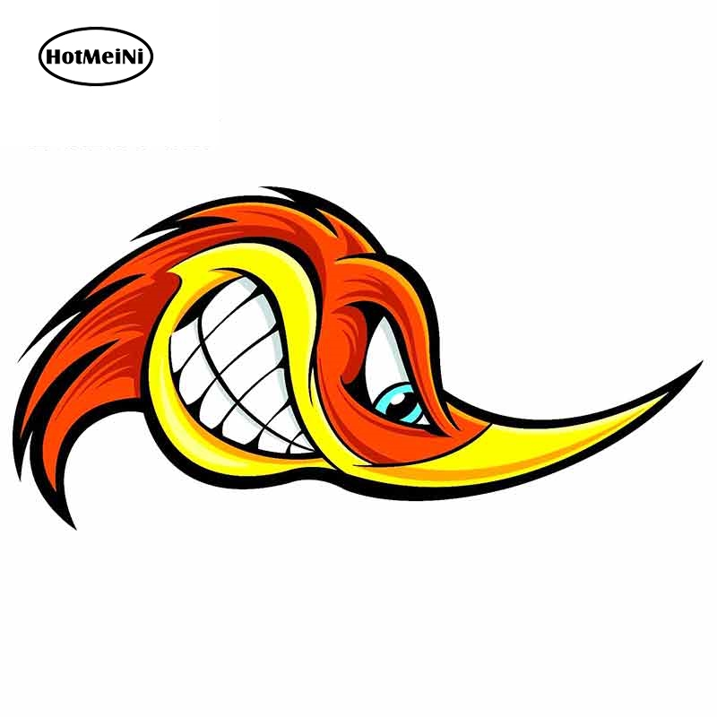 HotMeiNi 13cm X 6.5cm For Cartoon Woodpecker Motorcycle Car Bumper Window Stickers Car Stickers And Decals Vinyl Material