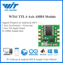 WitMotion WT61 6 محور AHRS الاستشعار الرقمية الميل زاوية الميل + التسارع + الجيروسكوب MPU6050 وحدة على PC/الروبوت/MCU