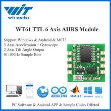 Witmotion WT61 6軸ahrsセンサーデジタル傾斜角度傾斜計 + 加速度 + ジャイロMPU6050モジュールpc/アンドロイド/mcu