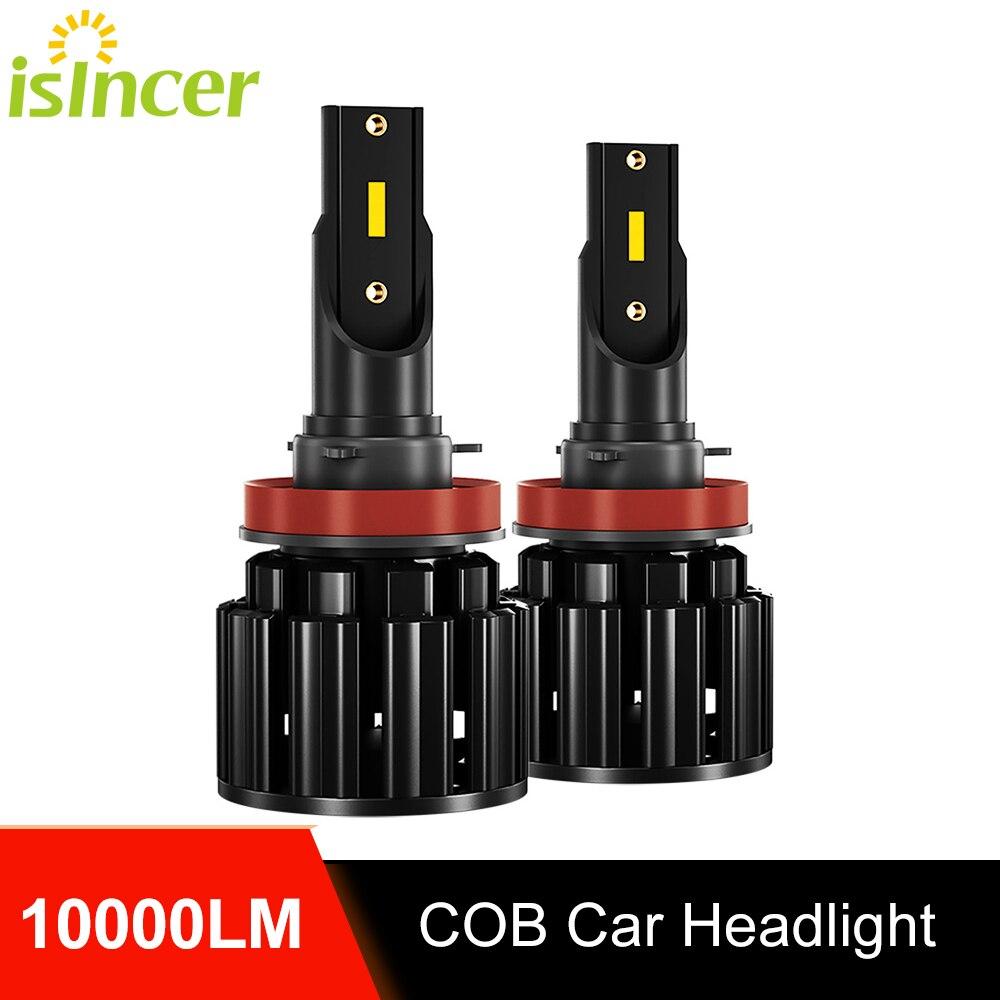 2 шт 6500 к H7 Led автомобилей головной светильник лампы Комплект 10000LM ISincer H1 H4 H8 H9 H11 HB2 9005 HB3 9006 HB4 100W фары 12В противотуманный светильник