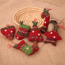 Christmas Pendants Button Decor Hanging Holiday Party Supplies