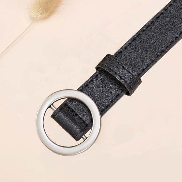 NO. ONEPAUL женский ремень с и пряжками, Золотая Пряжка, джинсы, дикие ремни для женщин, модные, студенческие, простые, новые - Цвет: SSM01 black silver