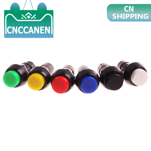 1PC PBS-11A PBS-11B 12mm self-locking Self-Recovery Plastic Push Button Switch momentary 3A 250V AC 2PIN 6Color(China)