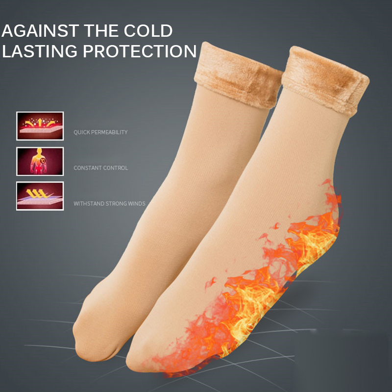 HOT Winter Wamer Women Snow Socks Thicken Thermal Wool Cashmere Snow Socks Skiing Cycling Riding Dance Sleeping Socks For Ladies