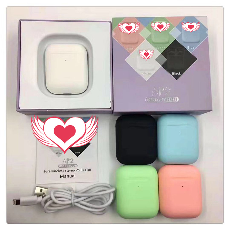 Macaron Neue AP2 TWS Bluetooth Kopfhörer air <font><b>2</b></font> Upgrade Touch Control <font><b>In</b></font>-<font><b>Ear</b></font> Super Bass Ohrhörer Headset für <font><b>xiaomi</b></font> PK i90000 <font><b>pro</b></font> image
