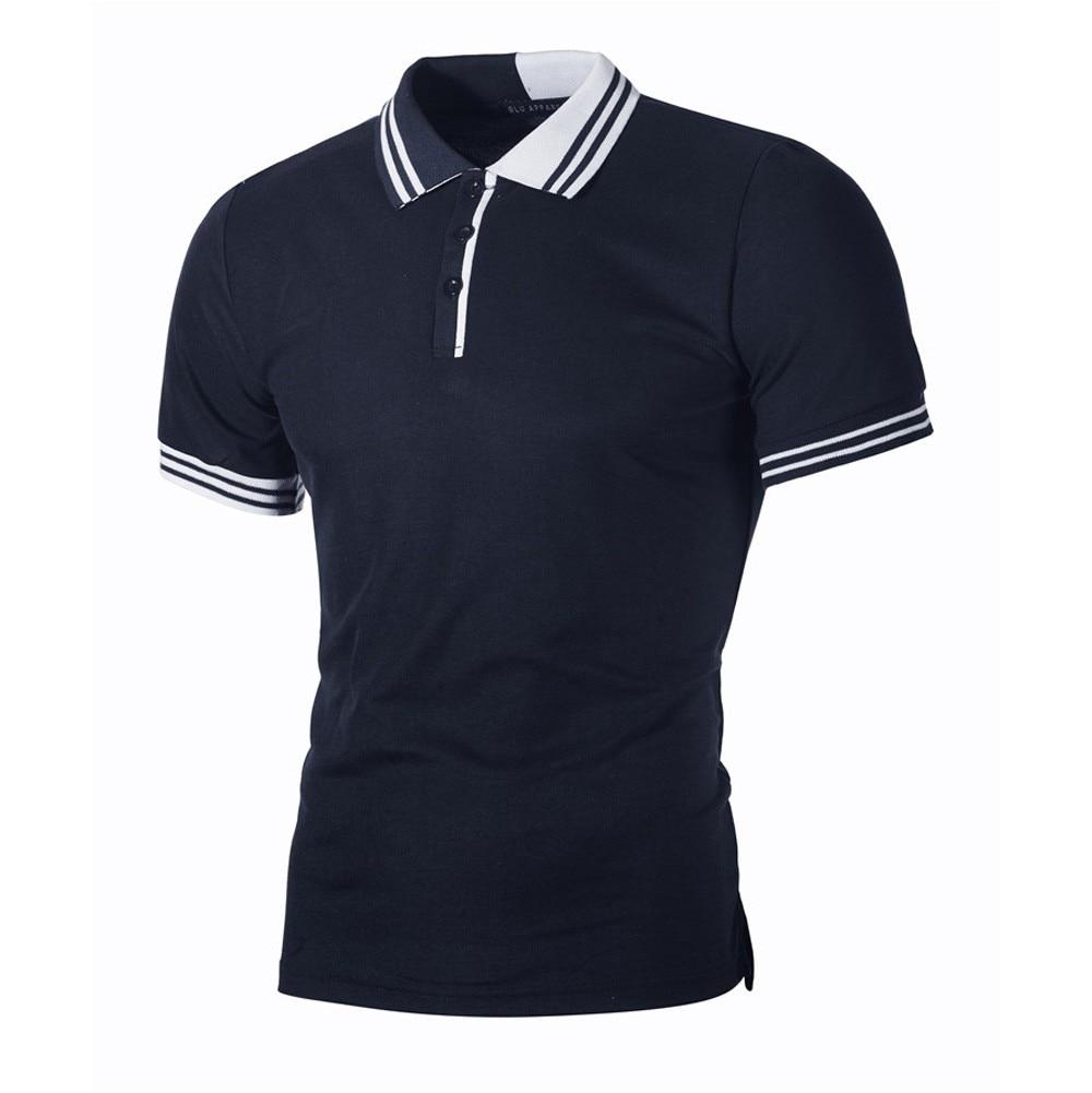 Fashion Men's Tshirt Summer Casual Slim Button Short Sleeve T Shirt Streetwear Tops Gym Tee Shirt Homme Camiseta Masculina