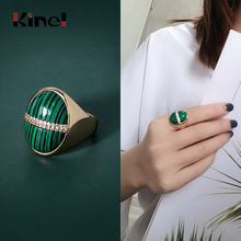 Kinel Watermelon Texture CZ Rings 925 Sterling Silver Rings for Women Open Ring Band Silver 925 Jewelry Fine Jewelry