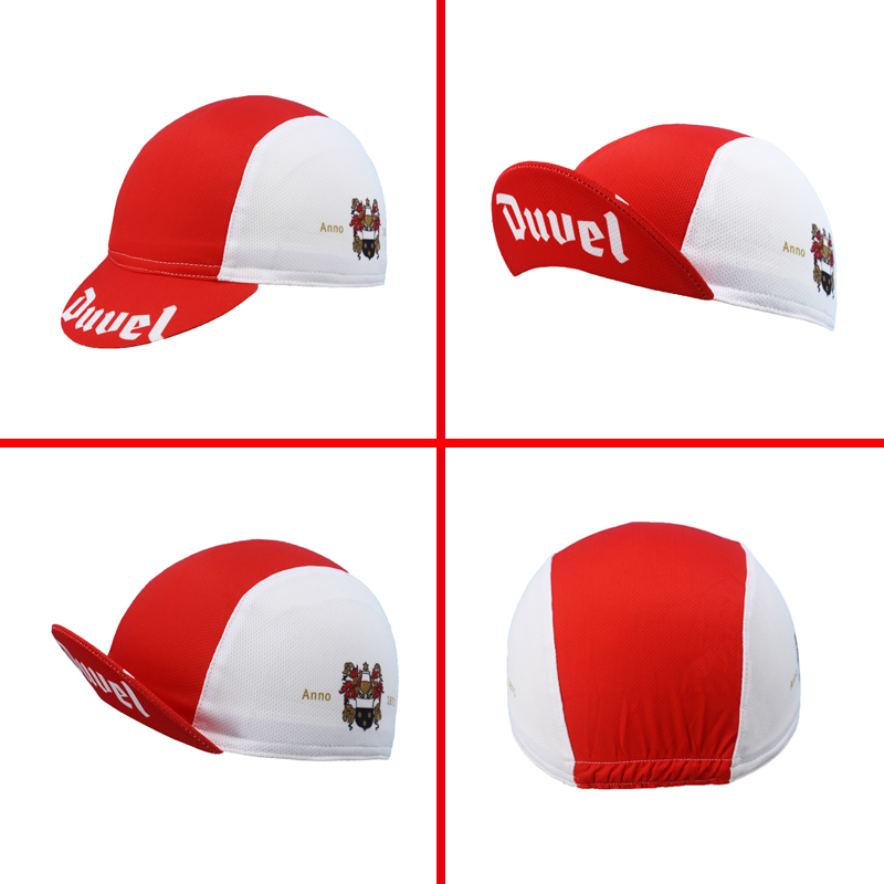Classic Duvel Breathable Beer Cycling Caps Red Bike Wear Hat Pro Team Bicycle Caps Men And Women Jersey Set Matching