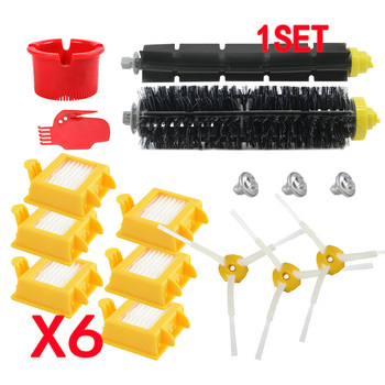 HEPA Filter +Side Brush + Bristle Brush for iRobot Roomba 700 760 770 772 774 775 776 780 782 785 786 790 Accessories Brush replacement filter and brush kit for irobot roomba 700 series 760 770 780 790 accessory kit include 12 filter 12 side brush 2