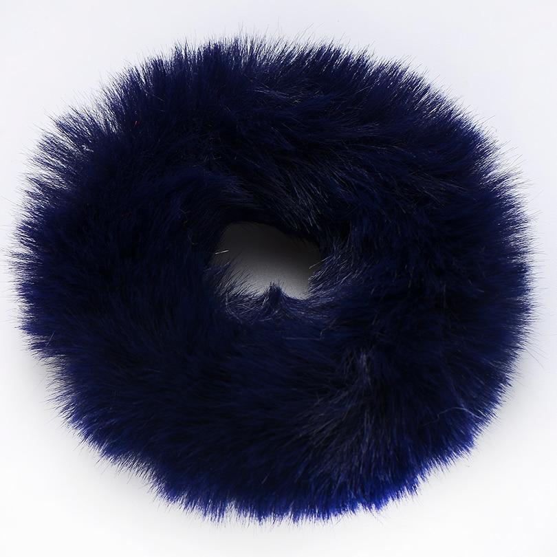 Резинки для волос Новые зимние теплые резинки для волос из мягкого искусственного меха для женщин и девочек, эластичная канатная Резиновая лента, головные уборы, аксессуары для волос украшения для волос - Цвет: color 3