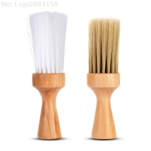 1Pcs Neck Face Duster Brush Salon Hair Cleaning Wooden Sweep Cut Hairdressing Cleaner Hairbrush Comb Tools
