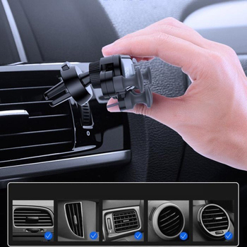 Gravity Cell Phone Holder for Car Mount Air Vent Clip GPS Holder Stand Bracket No Magnetic Phone Holder for iIPhone Xiaomi 2