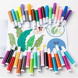 Image 5 - 208 adet boyama çizim seti mum boya renkli kalemler suluboya kalemler çocuk çocuk öğrenci sanatçı sanat seti boya fırçaları
