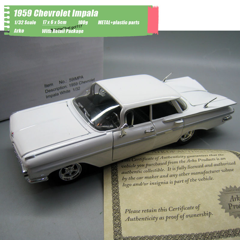 Arko 1/32 Scale Car Model Toys 1959 <font><b>Chevrolet</b></font> Impala Diecast Metal Car Model Toy For Gift,Kids,Collection,Decoration image