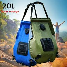 20L Solar Shower Bag Outdoor Camping Hot Water Bottle Portable Shower Folding Outdoor Heating Bag Solar Water Heater 1 pcs of 110v controller of solar water heater for separated pressurized solar hot water ms swh src 208c a