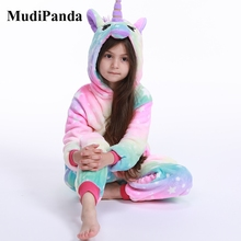 Kids Sleepwear Girls Pajamas Jumpsuit Animal-Onesies Flannel Boys Child's Cartoon Warm