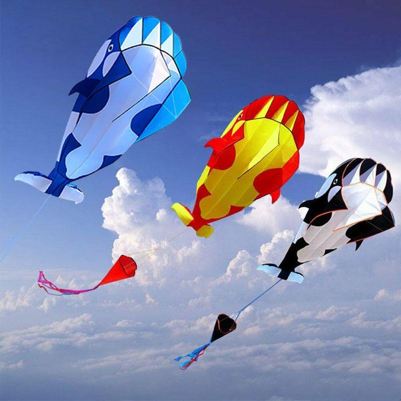 Huge 3D Cartoon Whale Software Kite Animal Kites Single Line Kite Plastic Handle With 30m String Kids Toys image