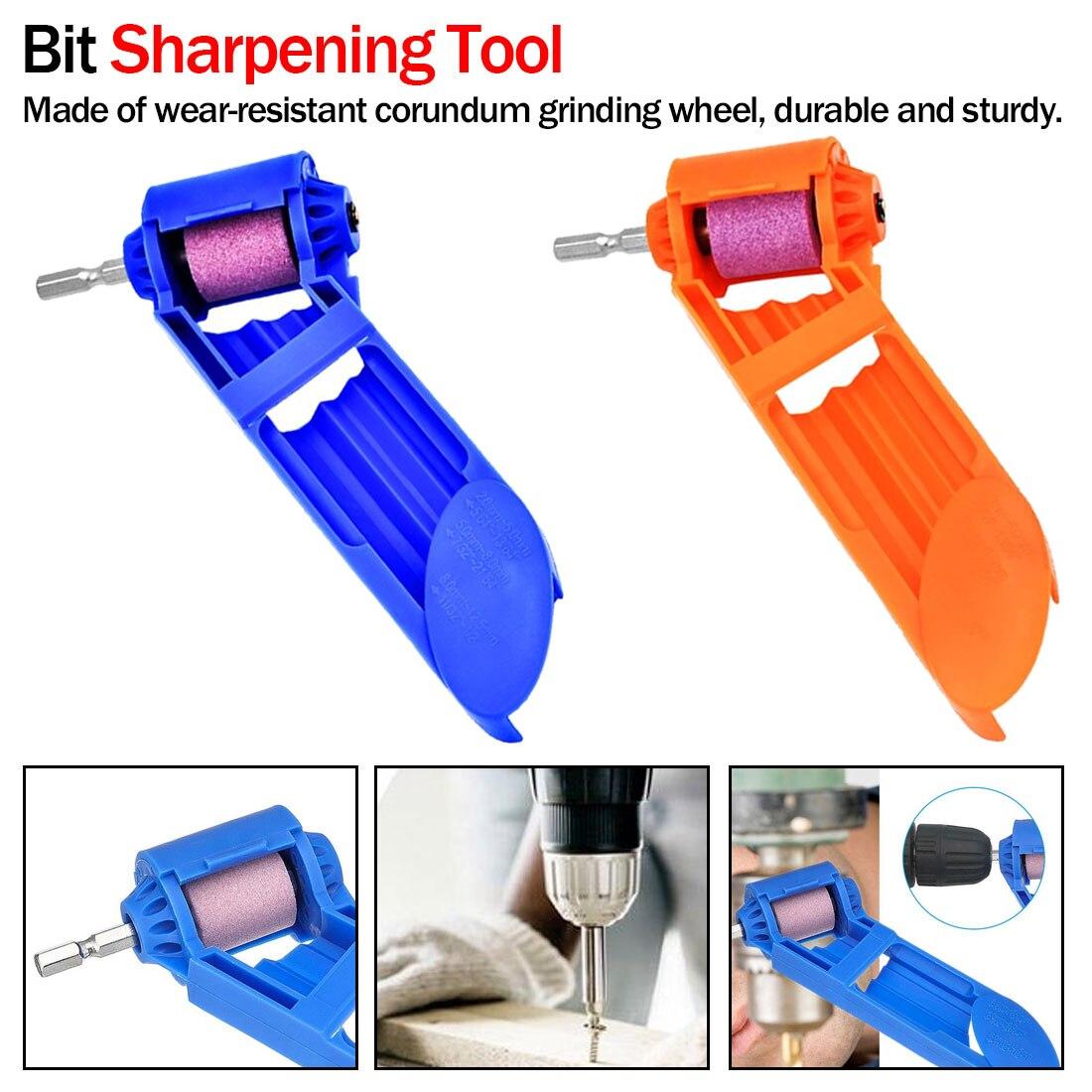 Portable Drill Bit Sharpener Wear Resisting Corundum Grinding Wheel Electric Drill Auxiliary Tool
