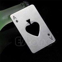 Soda Beer Cap Men's Gift Playing Card Ace of Spades Poker Bar Tool Bottle Opener  YY56