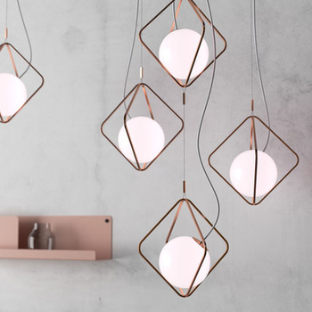 Nordic Glass Ball Pendant Light Fixture For Living Room Decorative Bar Pendant Lamp Bedroom Vintage Hanging Lamp Indoor