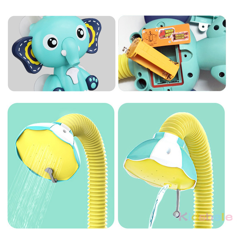 Bath Toys Baby Water Game Elephant Model Faucet Shower Electric Water Spray Toy For Kids Swimming Bathroom Baby Toys-06