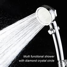 Handheld Shower Head 3-Settings High Pressure Shower Head Switch To Control Flow Angle-Adjustable Water Saving Body Sprays