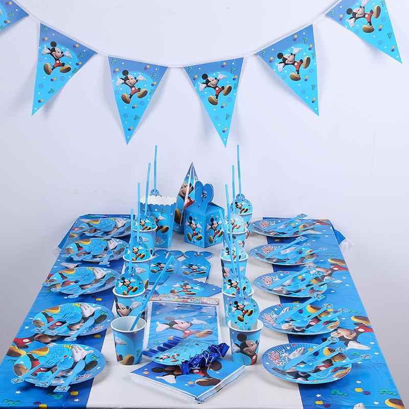 10 ชิ้น/ถุง Mickey Mouse Party Supplies ดื่ม Straws เด็กวันเกิดตกแต่งเด็กทารกสำหรับเด็ก Party Favors