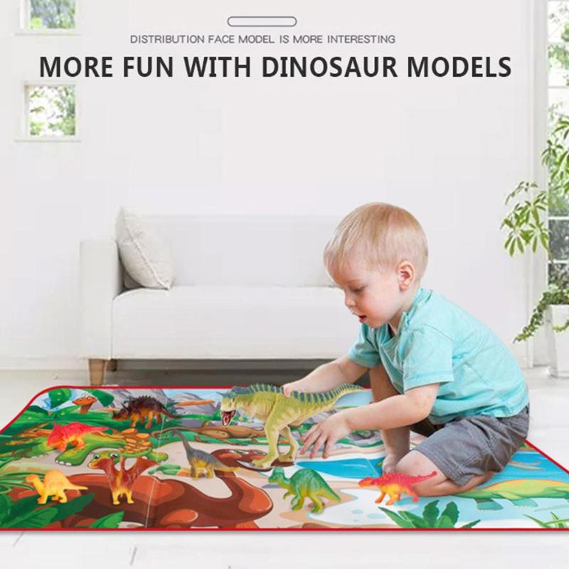 Baby Delicate Design Crawling Blanket Practical Games Floor Mat Personality Dinosaur Carpet Rugs Toys Storage Box