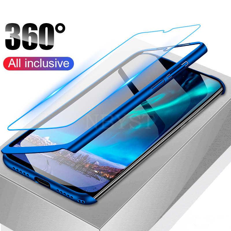 Luxe 360 Couvercle Intégral Téléphone étui pour huawei Mate 20 Lite 20X10 Pro étui pour huawei Mate 9 Pro 8 Boîtier antichoc Avec Verre