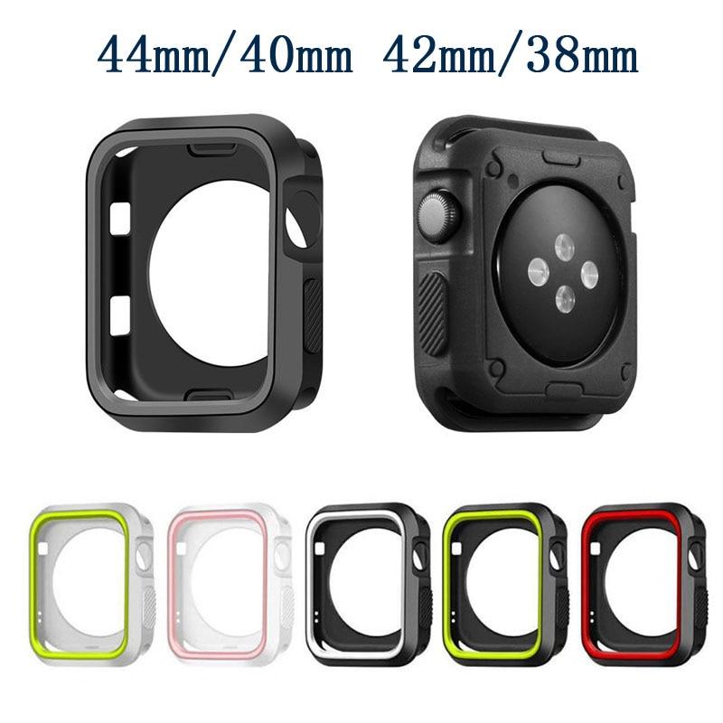 Чехол для часов Apple Watch serie 6 5 4 3 SE 44 мм 40 мм iWatch чехол 42 мм 38 мм бампер Защита экрана + чехол Аксессуары для Apple Watch