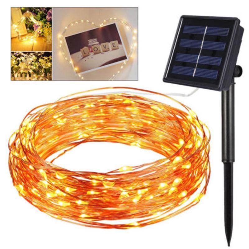 100 LED solaire fée chaîne en plein air paysage lampe romantique fée chaîne lumière noël décor fête décoration Festival fée lumière