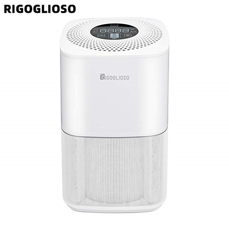 RIGOGLIOSO Air Cleaner TURE HEPA Air Purifier 4speed Adjustment Eco Purificateur Air Hepa Screen Display Air Filter High Quality
