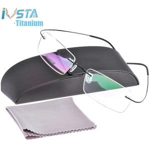 Image 1 - IVSTA Silh shile Logo z pudełkiem tytanowe okulary mężczyźni rama krótkowzroczność oprawki optyczne bez oprawek kobiety recepta różowy srebrny