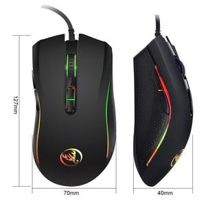 Image 3 - Mouse gamer usb com fio, mouse óptico colorido com 3200dpi e 7 botões para pc, laptop e computador, jogadores profissionais