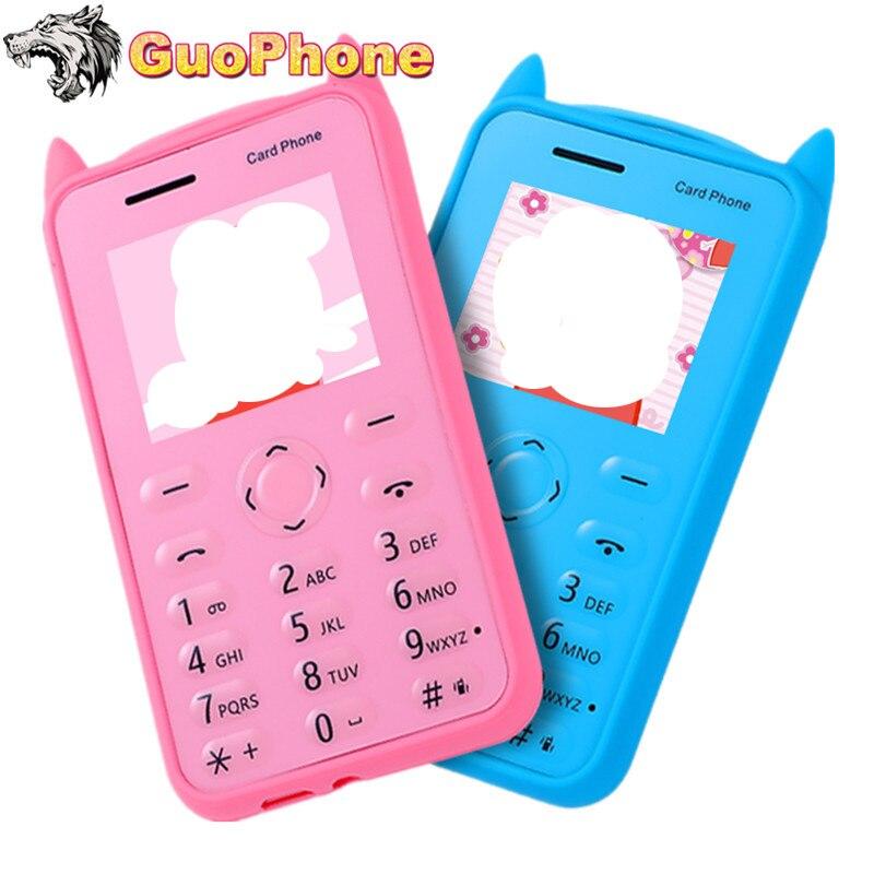 "A5 Small Push Button Mobile Phone 1.77\"" Ultra Thin Card Pocket Student Kids MP3 Bluetooth Mini Slim Size Cartoon Cheap Cellphone"