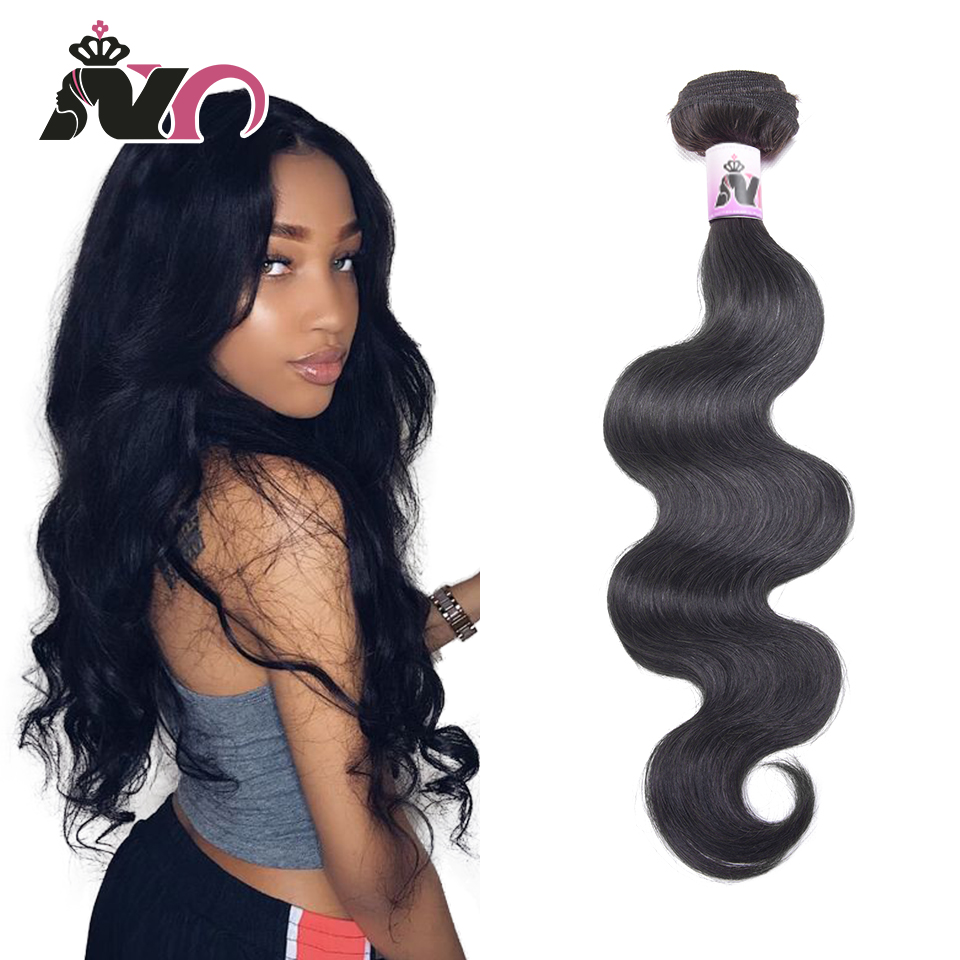 NY Hair Body Wave Bundles Brazilian Natural Color Hair 100% Human Hair Bundles 1 Piece Non Remy Hair Extensions Weave 8-30 Inch
