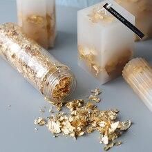 DIY свеча мыло изготовление золотой фольги DIY ручной работы материал Мыло Свеча украшение 2 г